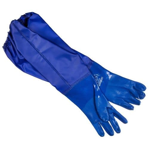 Long PVC Pond and Drain Gloves XL (Size:10)